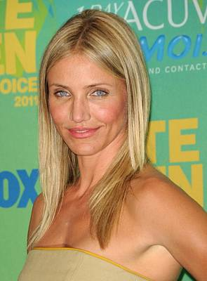 Teen Choice Awards Photograph - Cameron Diaz In The Press Room For 2011 by Everett