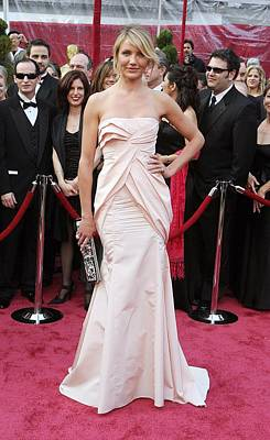 Gathered Dress Photograph - Cameron Diaz Wearing A Christian Dior by Everett
