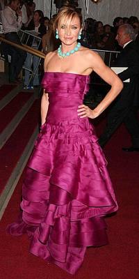 Cameron Diaz Photograph - Cameron Diaz Wearing A Dior Gown by Everett