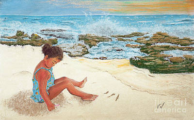 Camila And The Carribean Sea Print by Jim Barber Hove