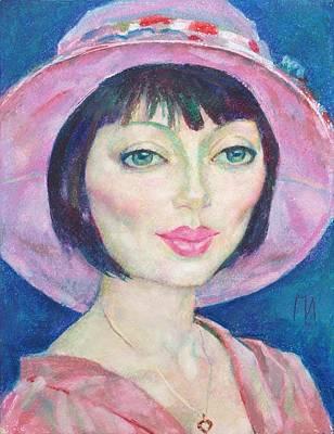 Pastel Painting - Camilla Efasova by Leonid Petrushin