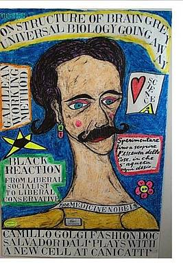Life Is What Mixed Media - Camillo Golgi Fashion Doc Salvador Dali Plays With A New Cell At Canicatti by Francesco Martin