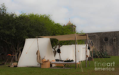 Mixed Media - Camp At Goliad by Kim Henderson