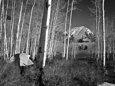 Photograph - Camp At La Sal Mountain by Williams-Cairns Photography LLC