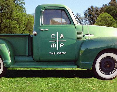 Digital Art - Camp Truck by Timothy Bulone