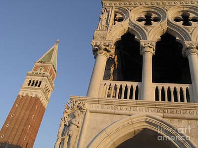 Venise Photograph - Campanile And Palace Ducal. Venice by Bernard Jaubert