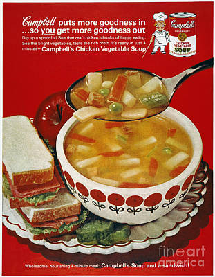 Photograph - Campbells Soup Ad, 1963 by Granger