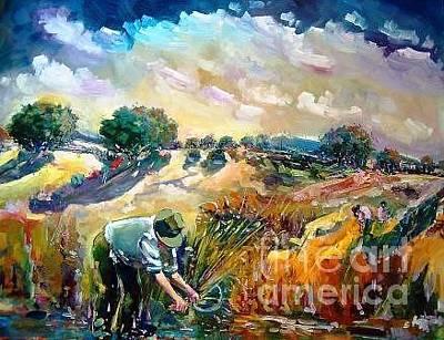 Campesinos Painting - Campesino by Pedro Castano Gallardo