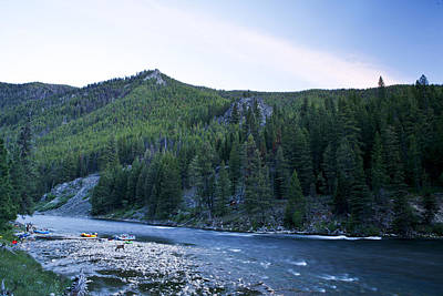 Camping On The Middle Fork Art Print