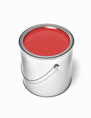 Paint Cans Photograph - Can Of Red Paint by Burazin
