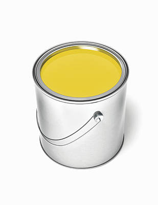 Paint Cans Photograph - Can Of Yellow Paint by Burazin