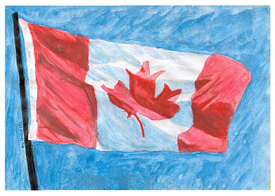 Print featuring the painting Canada Day by Ana Tirolese