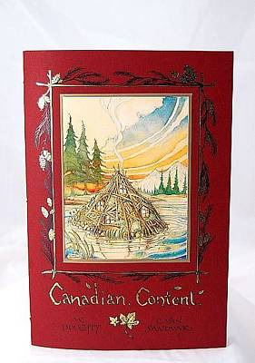 Stiched Drawing - Canadian Content by Charles Van Sandwyk