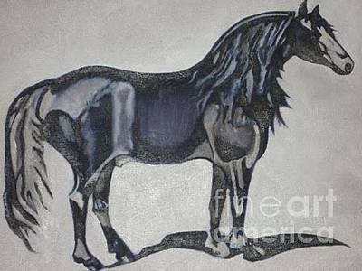 Canadian Heritage Horse Original by Catherine Meyers