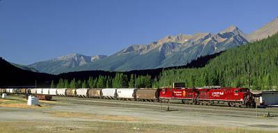Cp Rail Photograph - Canadian Pacific Railway, Field by David Nunuk