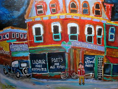 Urbanscene Painting - Canadian Tire by Michael Litvack