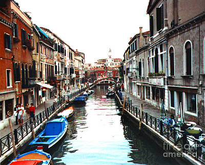 Photograph - Canal In Venice Italy by Merton Allen