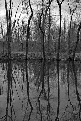 Princeton Photograph - Canal Reflections by Steven Richman