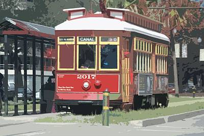Photograph - Canal Street Trolley by Donna G Smith