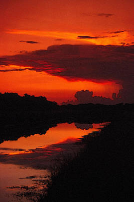 Photograph - Canal Sunset by Bob Whitt