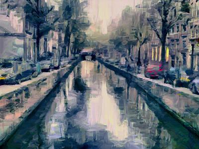 Amsterdam Digital Art - Canals Of Amsterdam by Yury Malkov