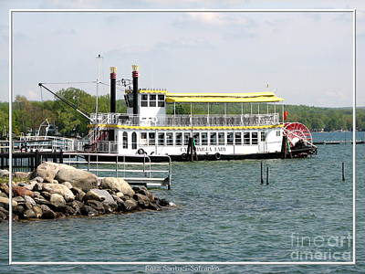 Photograph - Canandaigua Lady Paddleboat by Rose Santuci-Sofranko