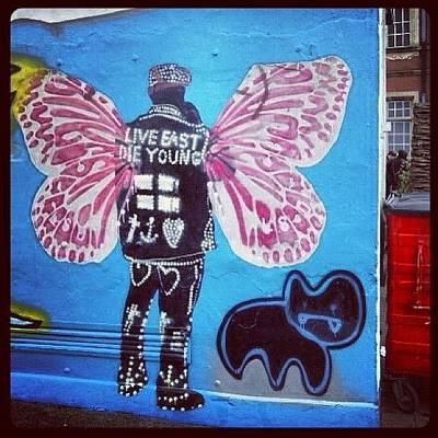Leather Photograph - #canart #stencilart #stencil #subwayart by Nigel Brown