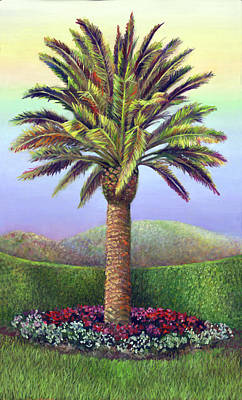 Painting - Canary Palm Tree At Midday by Nancy Tilles