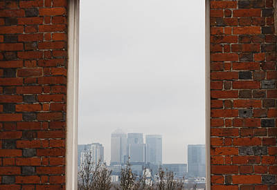 Art Print featuring the photograph Canary Wharf View by Maj Seda
