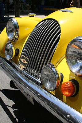 Canary Yellow Morgan Sportscar Art Print