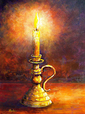 Painting - Candle - Amber Glow by Lou Ann Bagnall