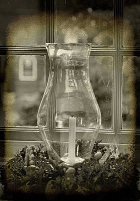 Candle And Window Art Print by Steven Ainsworth