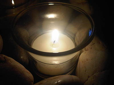 Spritual Light Photograph - Candle For A Friend by Michael Merry