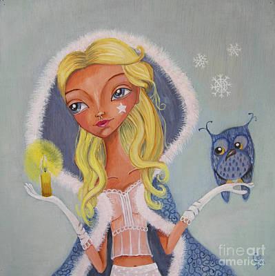 Candle Girl Original by Caroline Bonne-Muller