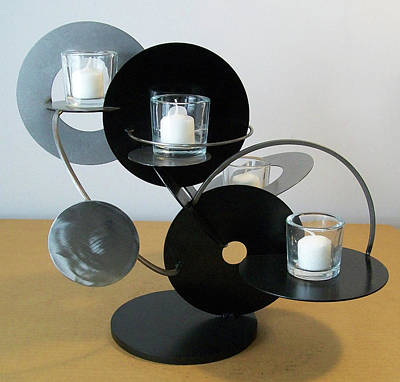 Sculpture - Candle Holder Model D by John Gibbs