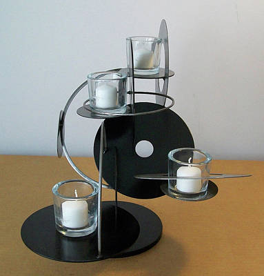 Sculpture - Candle Holder Model D V2 by John Gibbs