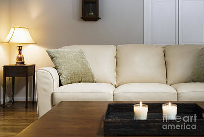 Candlelit Living Room Art Print