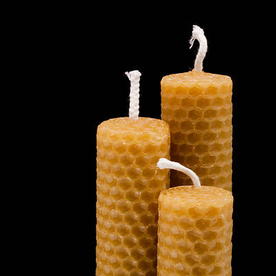 Hand Made Photograph - Candles by Tom Gowanlock