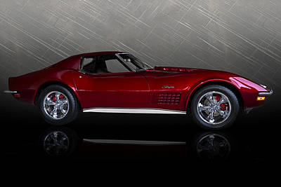 Classic Chevy Wall Art - Digital Art - Candy Apple Corvette by Douglas Pittman