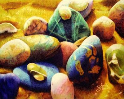 Candy Beach Art Print by Bleuie  Acosta