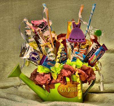 Photograph - Candy Bouquet Hdr by Lynnette Johns