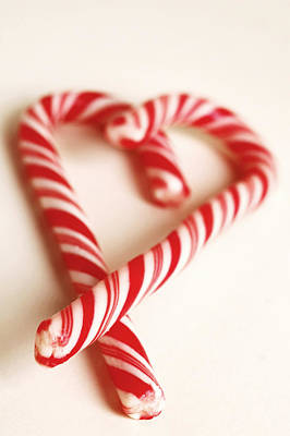 Photograph - Candy Cane Heart by Carol Vanselow