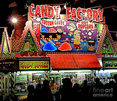 Art Print featuring the photograph Candy Factory by Renee Trenholm