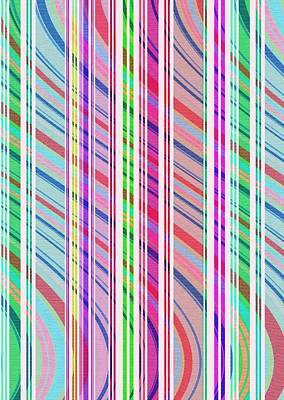 Digital Art - Candy Stripe by Louisa Knight