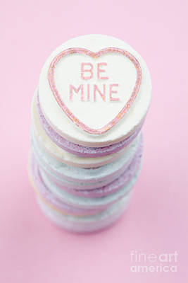 Candy With Be Mine Written On It Art Print by Neil Overy