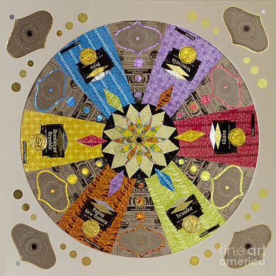 Candy Wrapper Mandala Art Print by Fourth and Fith Grades