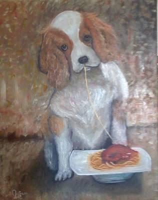 Quadro Painting - Cane Mangione  by Antonio Cariola