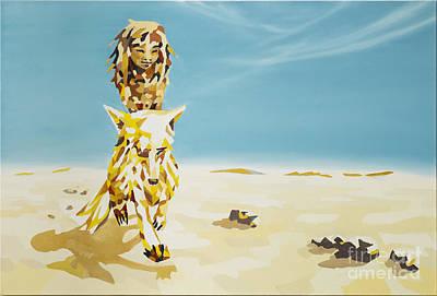 Fairytale Painting - Canis Lupus Desertorum - Der Wuestenwolf by Florian Divi