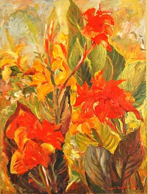 Canna Lilies Original by Alexandra Maria Ethlyn Cheshire