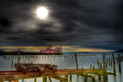Photograph - Cannery Pier Dark Skies by Joseph Bowman